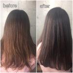 施術例【case.1】髪質改善カラーエステ